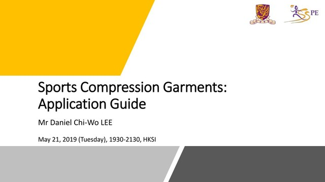 """Sports Compression Garments: Application Guide"" (JCCEP19/20 - 1)"